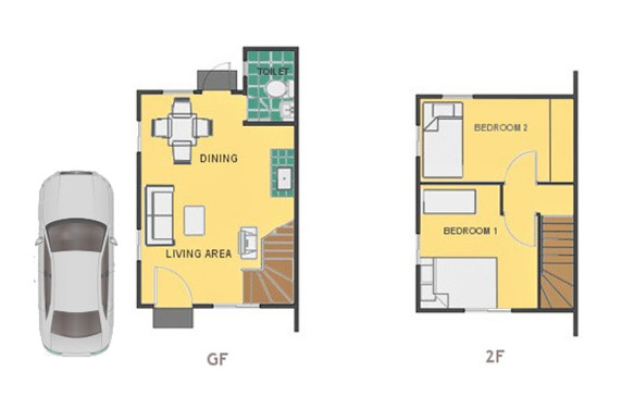 Mika Floor Plan House and Lot in Subic