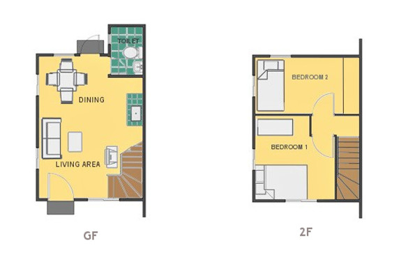 Mikaela Floor Plan House and Lot in Subic