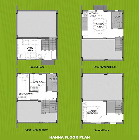 Hanna Floor Plan House and Lot in Subic