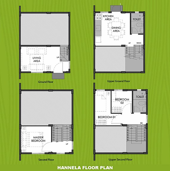 Hannela Floor Plan House and Lot in Subic