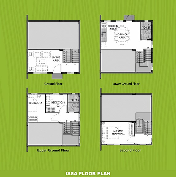 Issa Floor Plan House and Lot in Subic