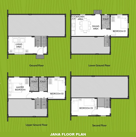 Janna Floor Plan House and Lot in Subic