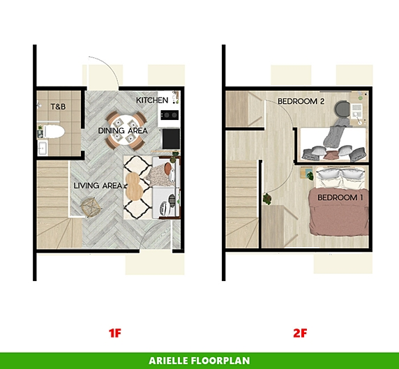 Arielle Floor Plan House and Lot in Subic