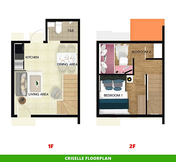 Criselle Floor Plan House and Lot in Subic