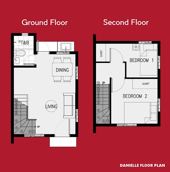 Danielle Floor Plan House and Lot in Subic