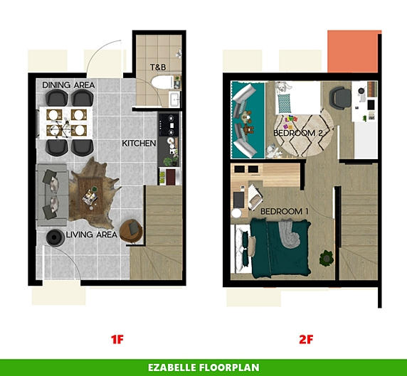 Ezabelle Floor Plan House and Lot in Subic