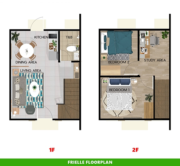 Frielle Floor Plan House and Lot in Subic