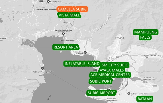 Subic Property Vicinity Map